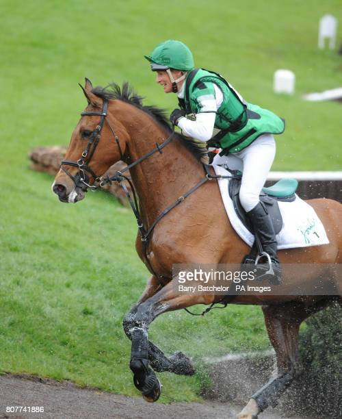 Imperial Cavalier and Mary King leave the Lake during the cross country at the Mitsubishi Motors Badminton Horse Trials