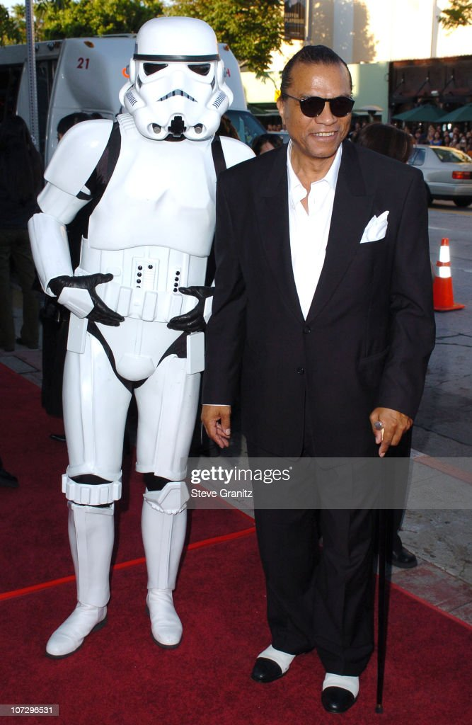 Imperial Stormtroopers and Billy Dee Williams during 'Star Wars Episode III Revenge of The Sith' Premiere to Benefit Artists for a New South Africa...