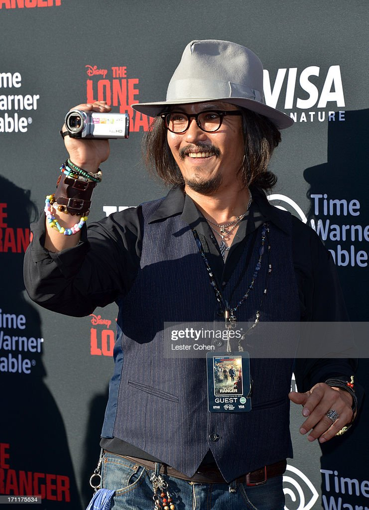 Impersonator arrives at Disney's 'The Lone Ranger' World Premiere at Disney's California Adventure on June 22 2013 in Anaheim California