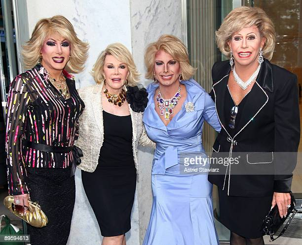 Impersonator Jesse Volt actress Joan Rivers Gary Dee and Joe Posa promote the TV Land PRIME series 'How'd You Get So Rich' at the CBS Early Show...