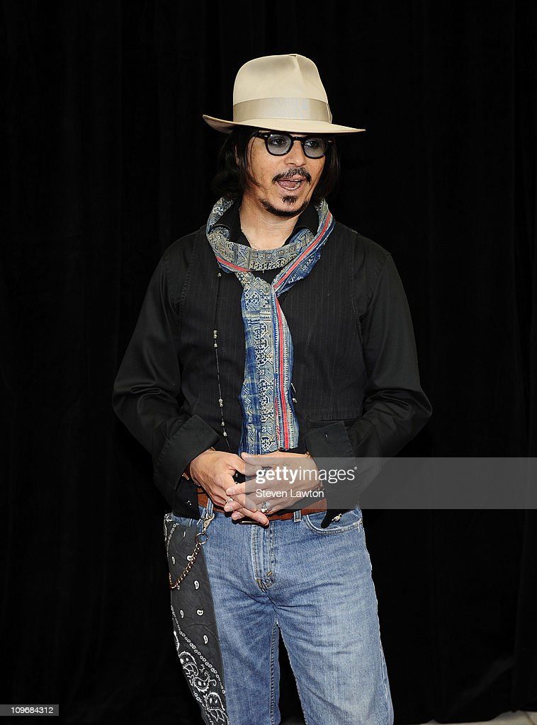 Impersonator Ronnie Rodriguez as Johnny Depp arrives for the 20th annual REEL Awards at the Golden Nugget Hotel Casino on February 24 2011 in Las...