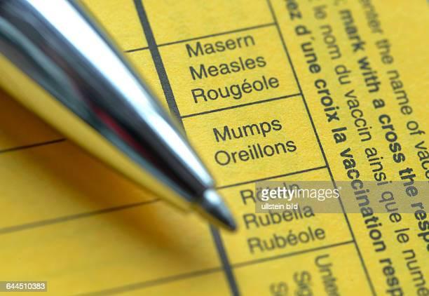 Impfbuch Masern Mumps Roeteln / Röteln