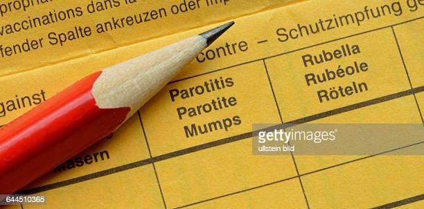 Impfbuch Mumps Roeteln / Röteln