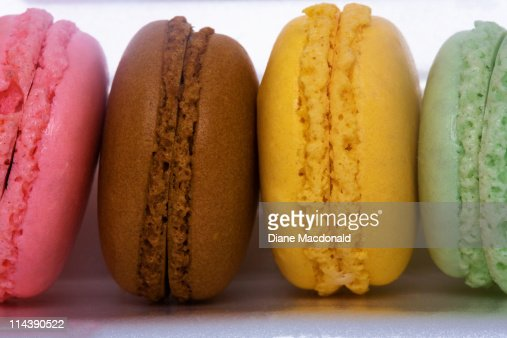 Imported gourmet French macarons (macaroons) : Stock Photo