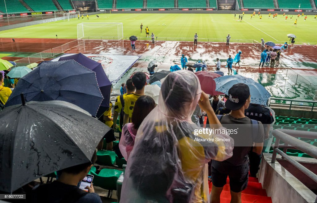 Impressions of Borussia Dortmund training session during the Borussia Dortmund Asian Summer Tour on July 17, 2017 in Guangzhou, China.