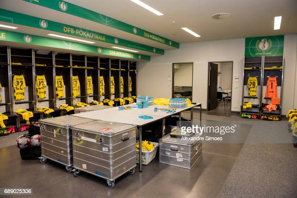 Impressions of Borussia Dortmund's changing room prior to the DFB Cup Final match between Eintracht Frankfurt and Borussia Dortmund at the...