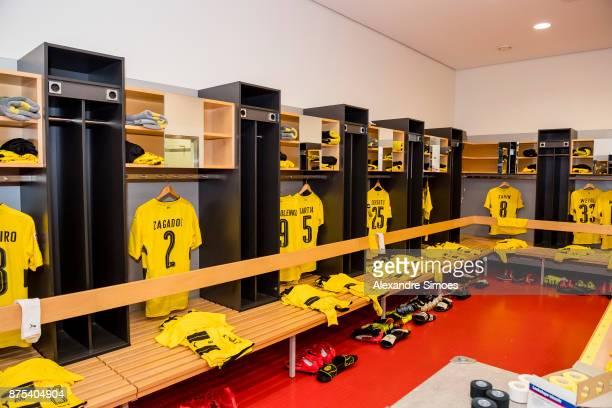 Impressions of Borussia Dortmund's changing room prior to the Bundesliga match between VfB Stuttgart and Borussia Dortmund at MercedesBenz Arena on...