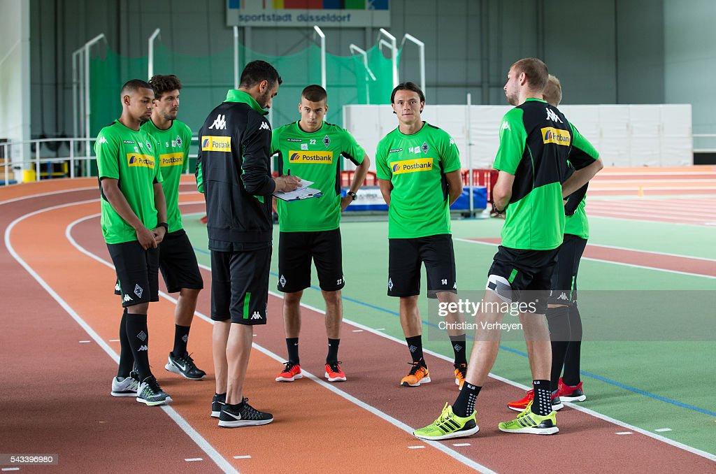 Impressions of Borussia Moenchengladbach during a Lactate Test in Duesseldorf on June 28, 2016 in Moenchengladbach, Germany.