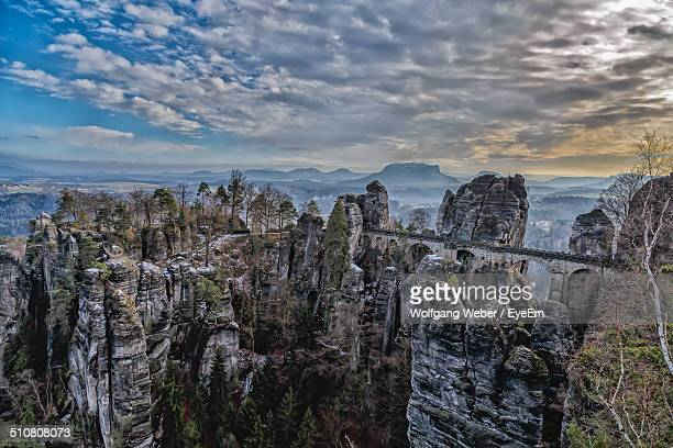 Impressive natural scenery with unusual geological formations