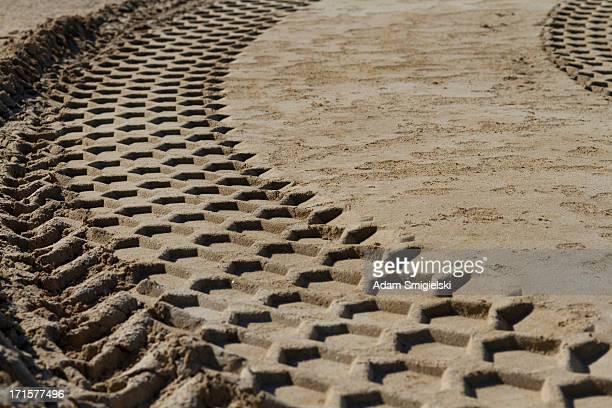 Impressum auf sand
