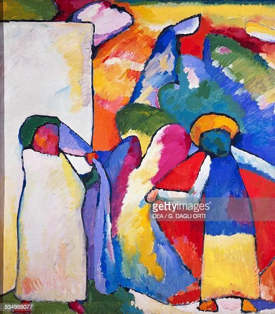 Improvisation No 6 by Vasily Kandinsky oil on canvas 107995 cm Monaco Städtische Galerie Im Lenbachhaus Lenbach Collections Picture Gallery