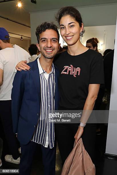 Imran Amed and Caroline Issa attend Tank Magazine's LFW party hosted by editorinchief Caroline Issa during London Fashion Week Spring/Summer...