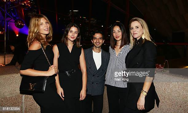 Imran Amed CEO and Founder of Business of Fashion poses with Tanja Gacic Sara Donaldson Nicole Warne and Amanda Shadforth during the Business of...
