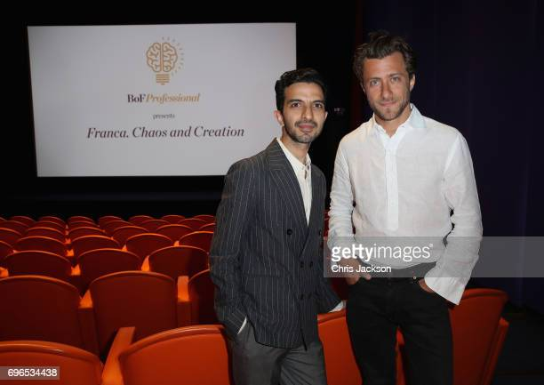 Imran Amed founder and CEO of The Business of Fashion and Francesco Carrozzini welcome the BoF Professional community to The UK Premiere of Franca...