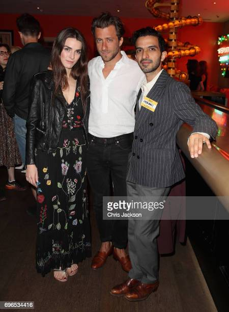 Imran Amed founder and CEO of The Business of Fashion Francesco Carrozzini and Bee Schaffer attend the UK Premiere of Franca Chaos and Creation on...