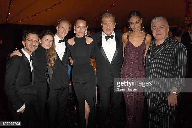 Imran Amed Miroslava Duma Jan Olesen Amber Valletta Mario Testino Joan Smalls and Tim Blanks attend the gala dinner as The Business of Fashion...