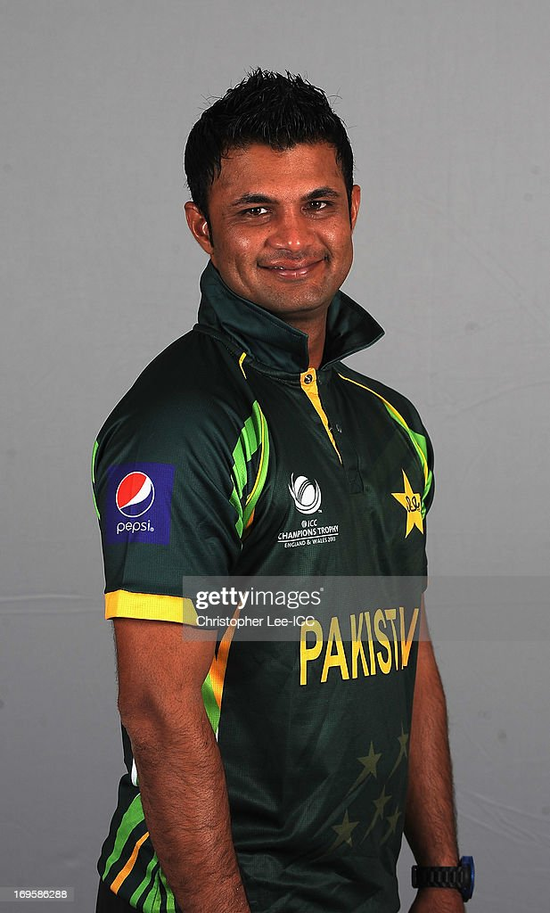 Imran Farhat of Pakistan poses during a Pakistan Portrait Session at the Hyatt Hotel on May 28, 2013 in Birmingham, England.