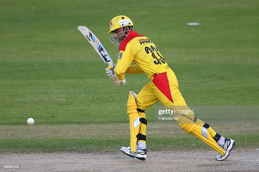 <a gi-track='captionPersonalityLinkClicked' href=/galleries/search?phrase=Imran+Farhat&family=editorial&specificpeople=585131 ng-click='$event.stopPropagation()'>Imran Farhat</a> of Sagittarius bats during the Oxigen Masters Champions League match between Sagittarius Strikers and Gemini Arabians on February 5, 2016 in Sharjah, United Arab Emirates.