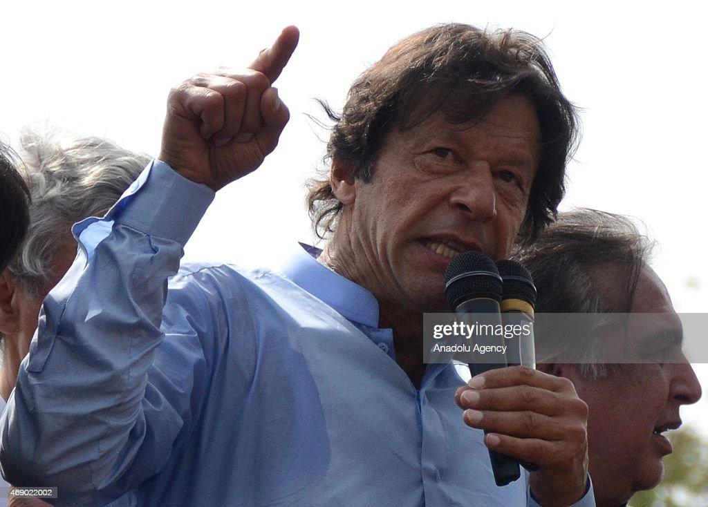 PTI election rally in Karachi : News Photo