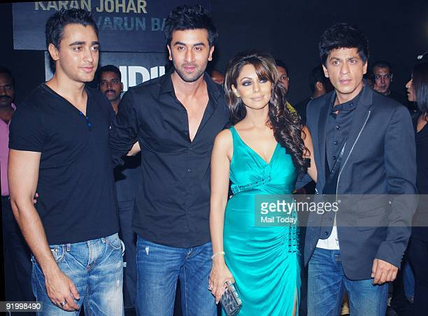 Imran Khan Ranbir Kapoor Gauri Khan and Shah Ruk Khan at the last day of the HDIL India Couture Week in Mumbai on Friday October 16 2009