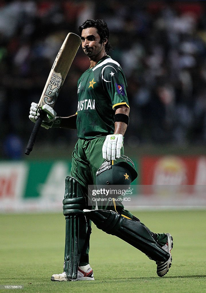 <a gi-track='captionPersonalityLinkClicked' href=/galleries/search?phrase=Imran+Nazir&family=editorial&specificpeople=2228421 ng-click='$event.stopPropagation()'>Imran Nazir</a> of Pakistan after his dismissal during the Group D match between Pakistan and Bangladesh at Pallekele Cricket Stadium on September 25, 2012 in Kandy, Sri Lanka.
