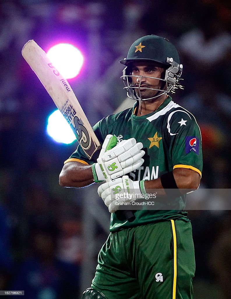 <a gi-track='captionPersonalityLinkClicked' href=/galleries/search?phrase=Imran+Nazir&family=editorial&specificpeople=2228421 ng-click='$event.stopPropagation()'>Imran Nazir</a> of Pakistan batting during the Group D match between Pakistan and Bangladesh at Pallekele Cricket Stadium on September 25, 2012 in Kandy, Sri Lanka.