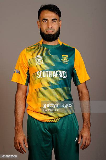 Imran Tahir of South Africa poses during the official photocall for the ICC Twenty20 World on March 11 2016 in Mumbai India