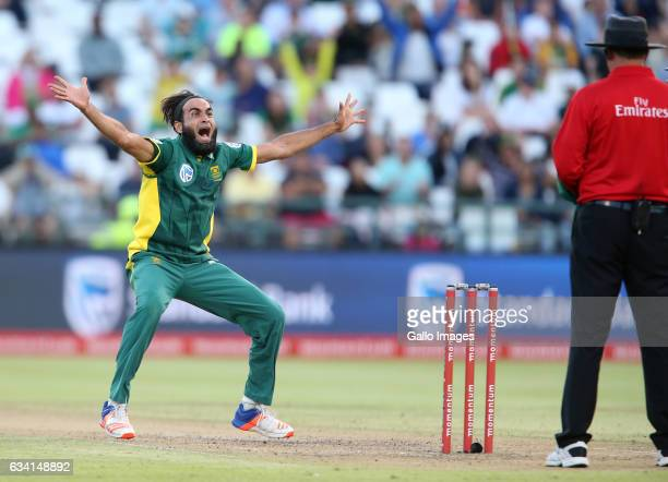 Imran Tahir of the Proteas during the 4th ODI between South Africa and Sri Lanka at PPC Newlands on February 07 2017 in Cape Town South Africa