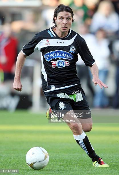 Imre Szabics of Sturm runs with the ball during the tipp3Bundesliga powered by TMobile match between SK Puntigamer Sturm Graz and SK Rapid Wien at...