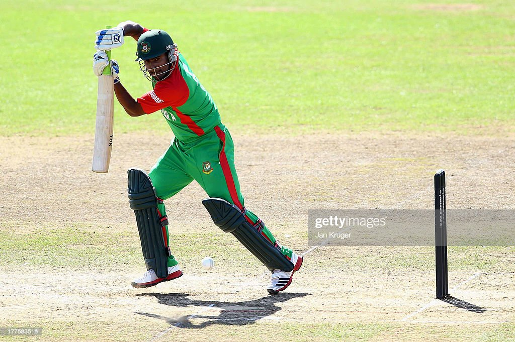 <a gi-track='captionPersonalityLinkClicked' href=/galleries/search?phrase=Imrul+Kayes&family=editorial&specificpeople=5565752 ng-click='$event.stopPropagation()'>Imrul Kayes</a> of Bangladesh A bats during an ODI match between England Lions and Bangladesh A at The County Ground on August 24, 2013 in Taunton, England.