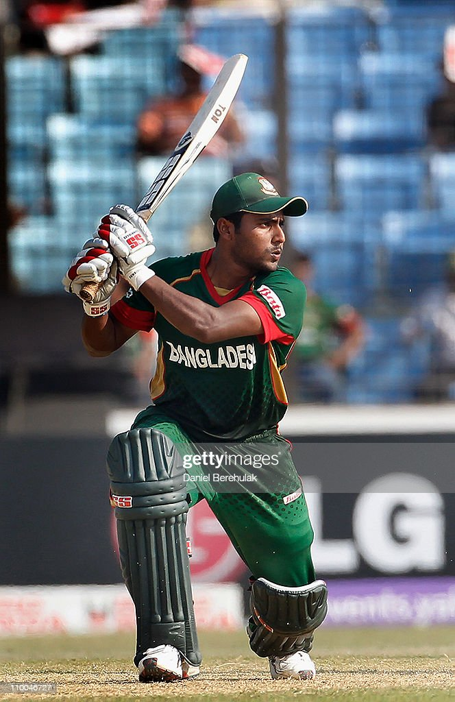 <a gi-track='captionPersonalityLinkClicked' href=/galleries/search?phrase=Imrul+Kayes&family=editorial&specificpeople=5565752 ng-click='$event.stopPropagation()'>Imrul Kayes</a> of Bangladesh bats during the 2011 ICC Cricket World Cup group B match between Bangladesh and the Netherlands at Zohur Ahmed Chowdhury Stadium on March 14, 2011 in Chittagong, Bangladesh.