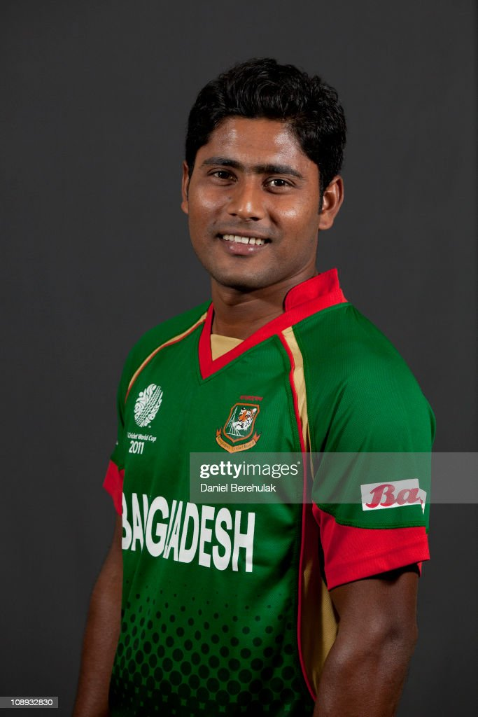 <a gi-track='captionPersonalityLinkClicked' href=/galleries/search?phrase=Imrul+Kayes&family=editorial&specificpeople=5565752 ng-click='$event.stopPropagation()'>Imrul Kayes</a> of Bangladesh poses for a portrait during the Bangladesh team portrait session on February 9, 2011 in Dhaka, Bangladesh.