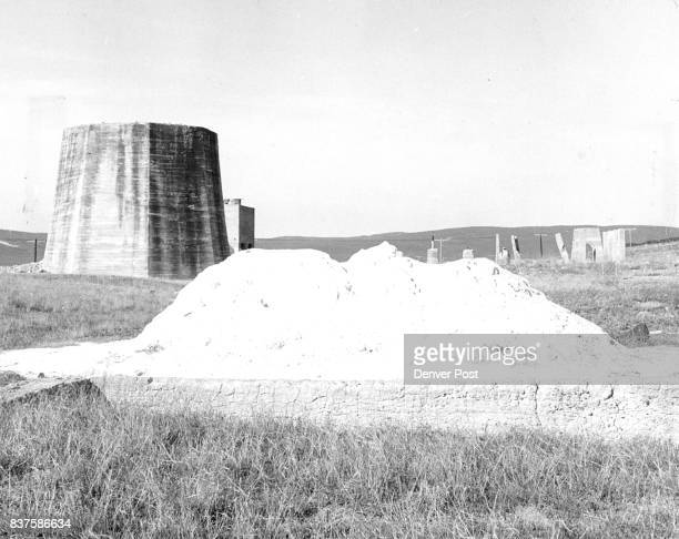 In 1918 five plants produced 600 tons of potash daily at Antioch This was the old Hoffland plant with a pile of potash in foreground The potash had...