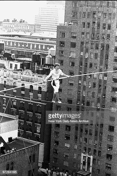 In 1974 daredevil aerialist Philippe Petit crossed a high wire between the World Trade Center towers to call attention to himself Today Petit crossed...