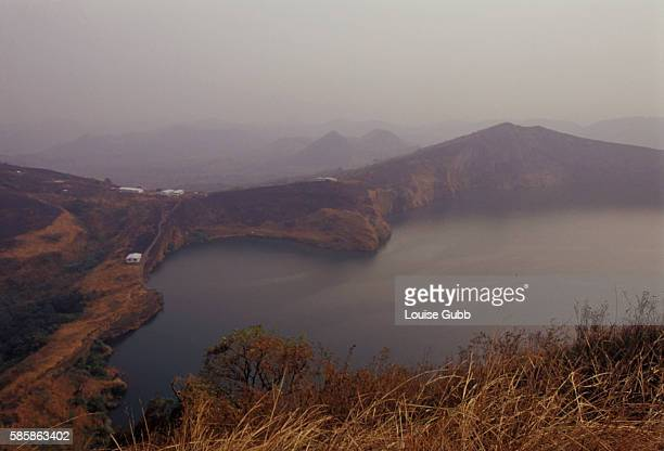 In 1986 carbon dioxide gas asphyxiated 2000 people when it was released from Lake Nyos in a dense cloud The degassing fountain in the middle of the...