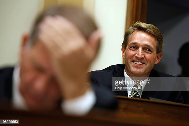 In a break with many in his party House Foreign Affairs Committee member Rep Jeff Flake gives an opening statement about the need to lift the travel...