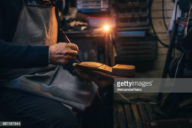 In a cobbler's shop