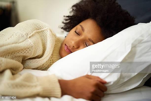 In a peaceful slumber