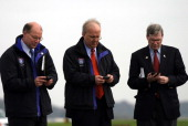 in a photo caption with an April 23 article on Blackberry email devices the identification of two White House Staff members were transposedThe photo...