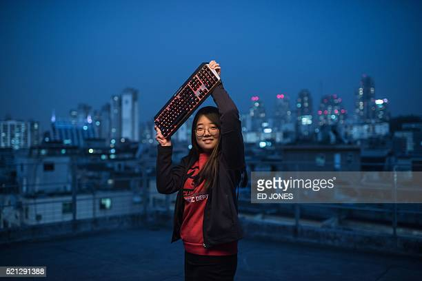 In a photo taken on April 11 2016 JuYeon Choi of the allfemale League of Legends computer gaming team 'QWER' poses for a photo in Seoul Brought...