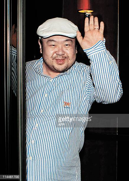 In a picture taken on June 4 2010 Kim JongNam the eldest son of North Korean leader Kim JongIl waves after an interview with South Korean media...