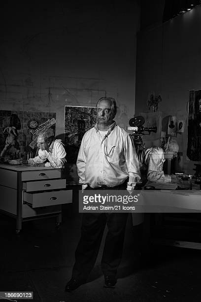 In a previously unreleased portrait 'In Spite Of Myself' William Kentridge is pictured in December 2009 in his studio in Houghton Johannesburg as...