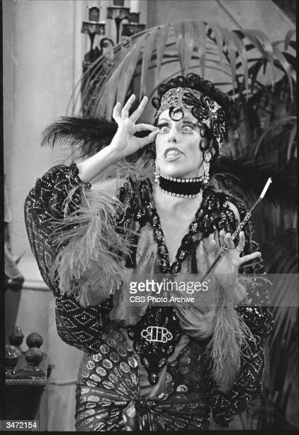 In a scene from 'The Carol Burnett Show' American comedienne and actress Carol Burnett portrays charcter Nora Desmond October 13 1972