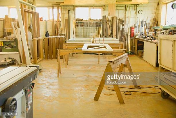 In a wooden workshop