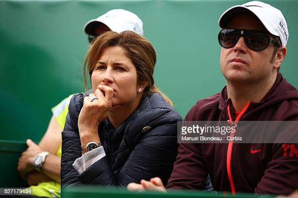 XXXX in action against XXX during day five of the Monte Carlo Rolex Masters tennis at the MonteCarlo Sporting Club on April 16 2015 in MonteCarlo...