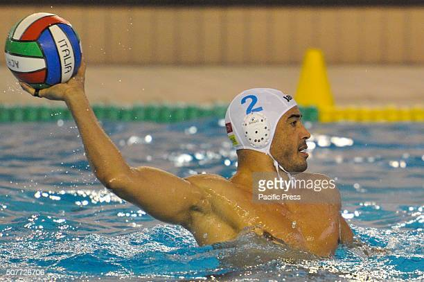 In action Napoli's defender Amaurys Perez during the match of Italian championship Serie A1 of men's water polo between carpisa yamamay acquachiara...