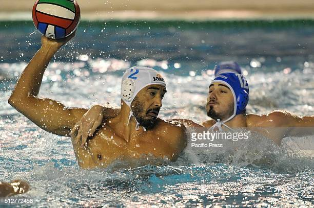 In action Napoli's defender Perez during the match of Italian championship Serie A1 of men's water polo between carpisa yamamay acquachiara Napoli...