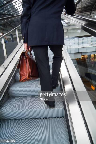 In an escalator