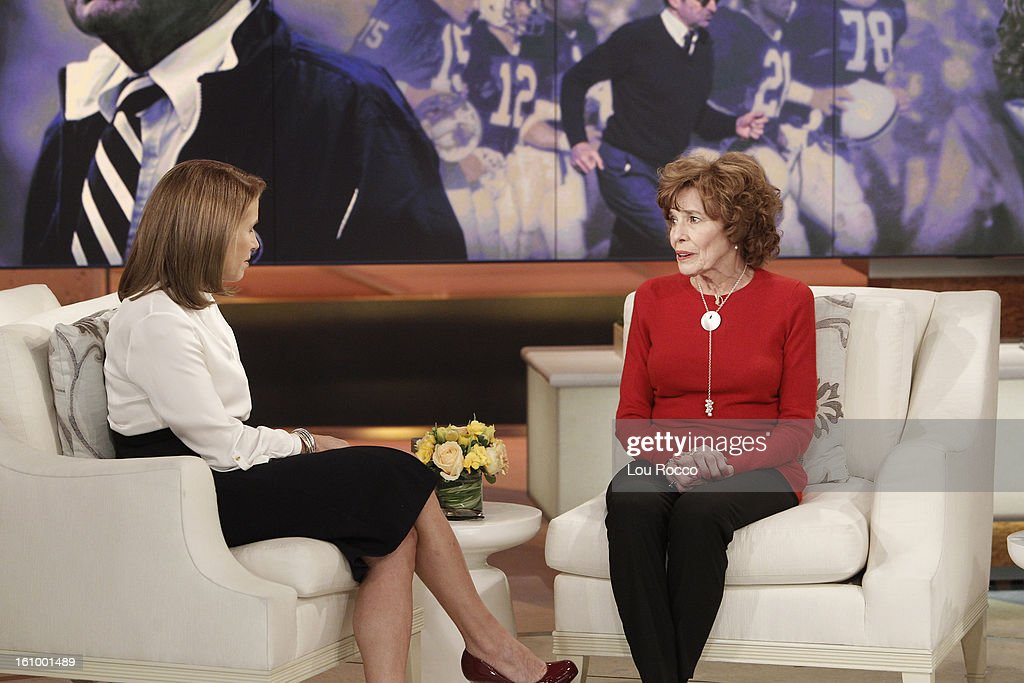 KATIE - 2/11/13 - In an exclusive interview, Sue Paterno - widow of legendary football coach Joe Paterno - sits down with Katie Couric for the first time since the Pennsylvania State University scandal, on KATIE, airing MONDAY, FEB. 11, distributed by Disney-ABC Domestic Television. (Photo by Lou Rocco/Disney-ABC via Getty Images) KATIE