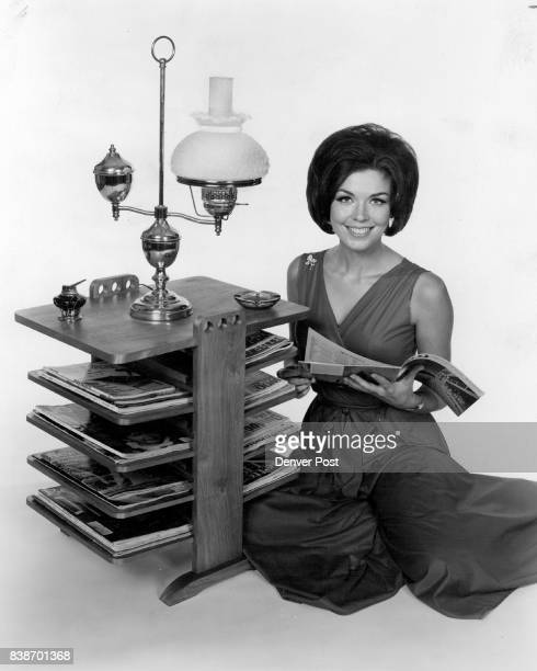 In answer to many requests for magazine rack ideas this magazine end table pictured here with Barbara Moore of the Man from UNCLE TV series has been...